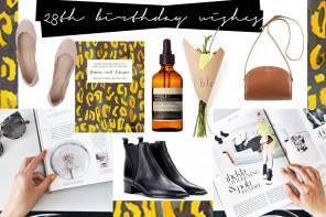 Fancies / Geburtstagswünsche von APC, Aesop & Co