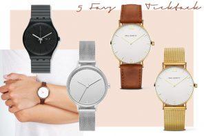 5 Favs / Offline mit Armbanduhr